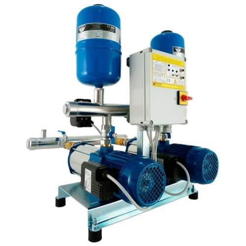 Насосные станции водоснабжения на насосах COMPACT (EBARA, Италия) со шкафом управления.