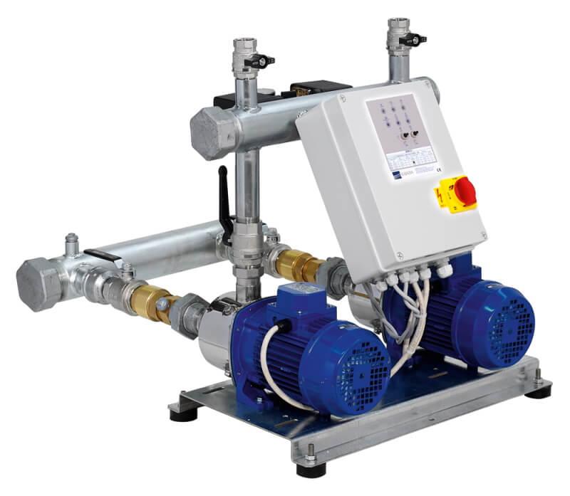 Станции водоснабжения на горизонтальных многоступенчатых насосах EBARA серии MATRIX.