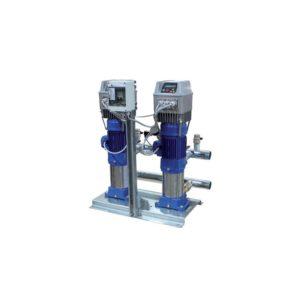 Насосные станции Ebara на вертикальных многоступенчатых насосах с частотным преобразователем для каждого насоса.